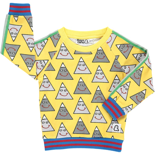 Boys&Girls Happy Mountain Crew in Organic Cotton