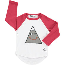 Boys&Girls Moody Mountain Raglan Tee in Organic Cotton