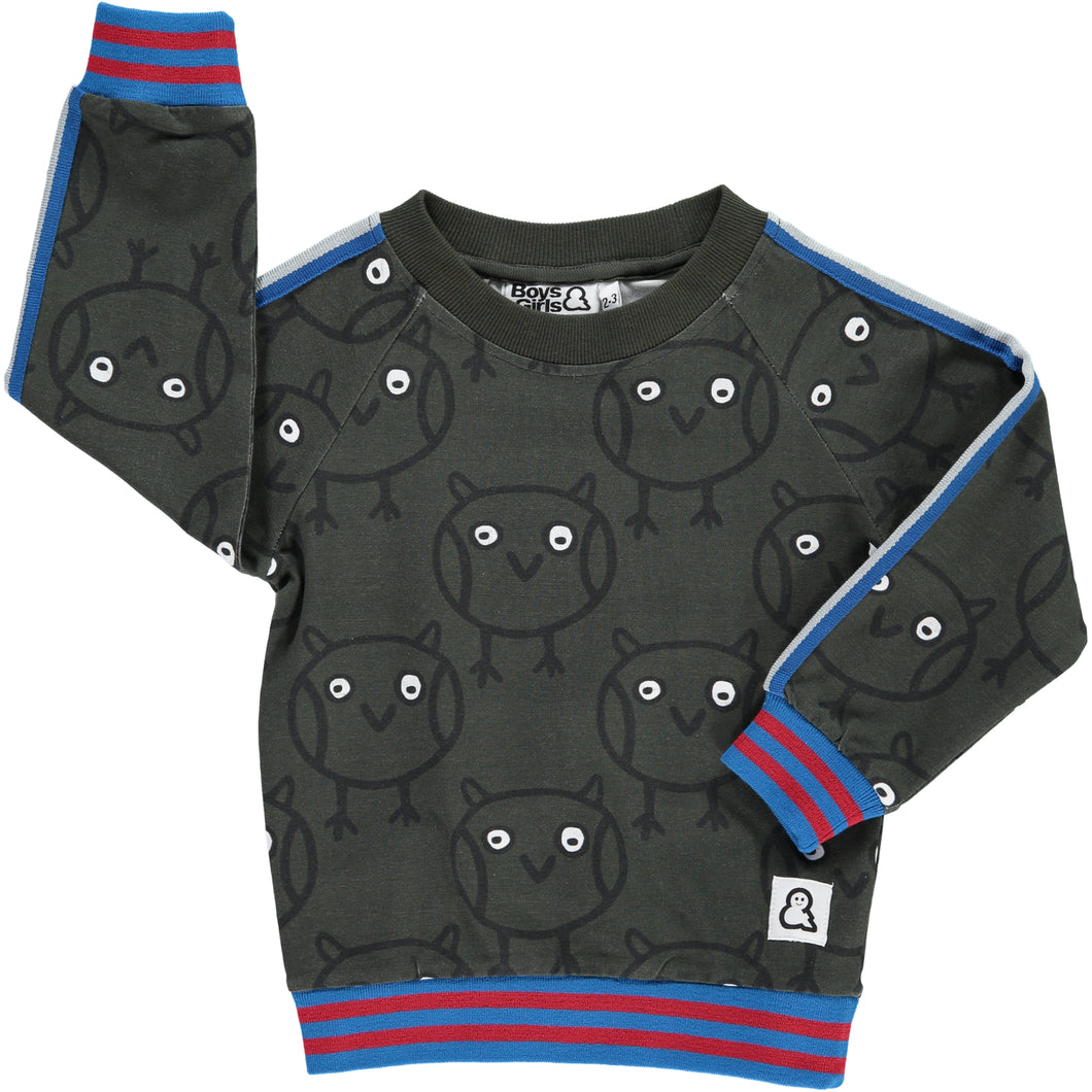 Boys&Girls Night Owl Crew in Organic Cotton
