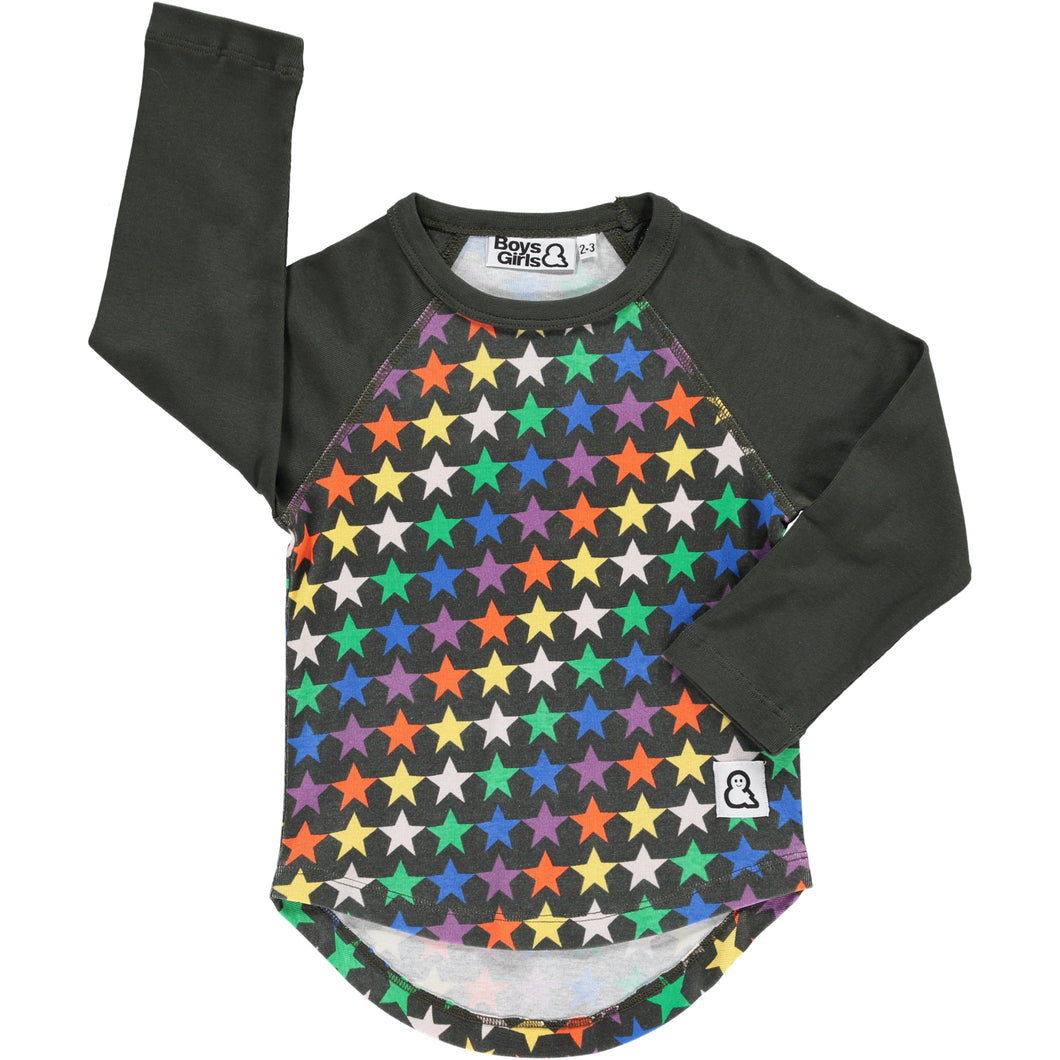 Boys&Girls Night Stars Raglan Tee in Organic Cotton
