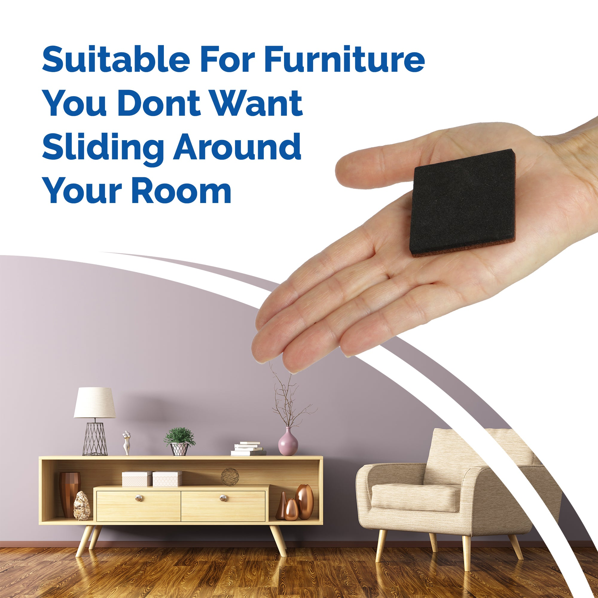 How To Stop Your Furniture From Sliding Around Your Room With Non-Slip Pads