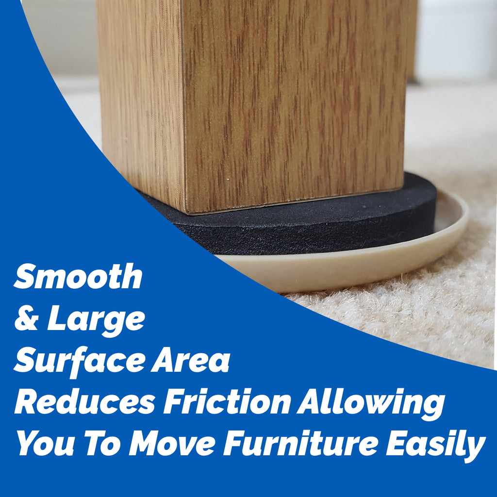 Moving Furniture Easily Over Carpeted Surfaces With Furniture Sliders