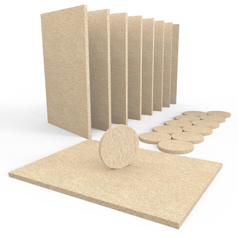 SIMALA Premium 20 Piece Furniture Pads Bundle – 8 Large Sheets & Round Felt Pads