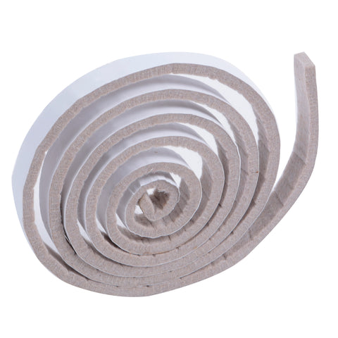 Beige self adhesive furniture felt roll, 1.52 meters in length.