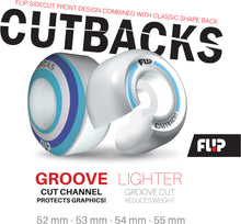 Team Cutback Swirl 54mm 99a (free USA shipping)