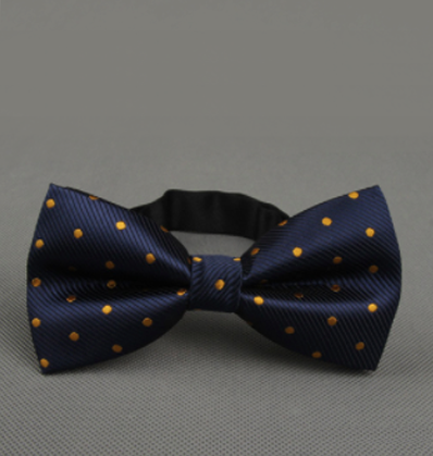 Royal Blue Gold Dotted Bow