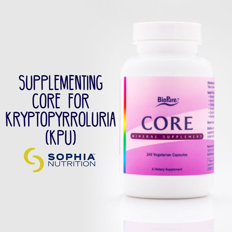 Supplementing CORE for Kryptopyrroluria (KPU)