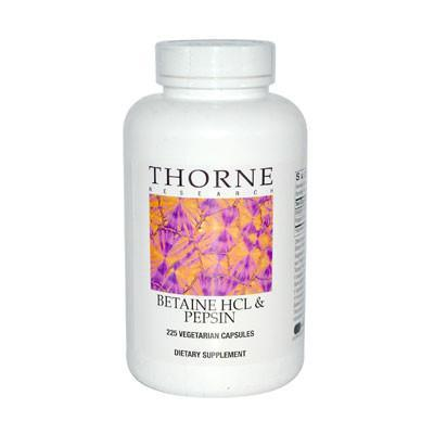 Thorne - Betaine HCL and Pepsin 225 Capsules