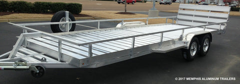 Tandem Axle Extra Long Utility Trailer