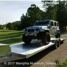 Crawler hauler trailer with Jeep.
