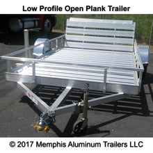 Low profile open plank utility trailer from Memphis Aluminum Trailers.