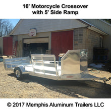 Motorcycle crossover trailer.