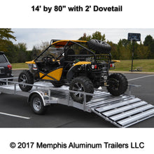 Single axle utility trailer with UTV.
