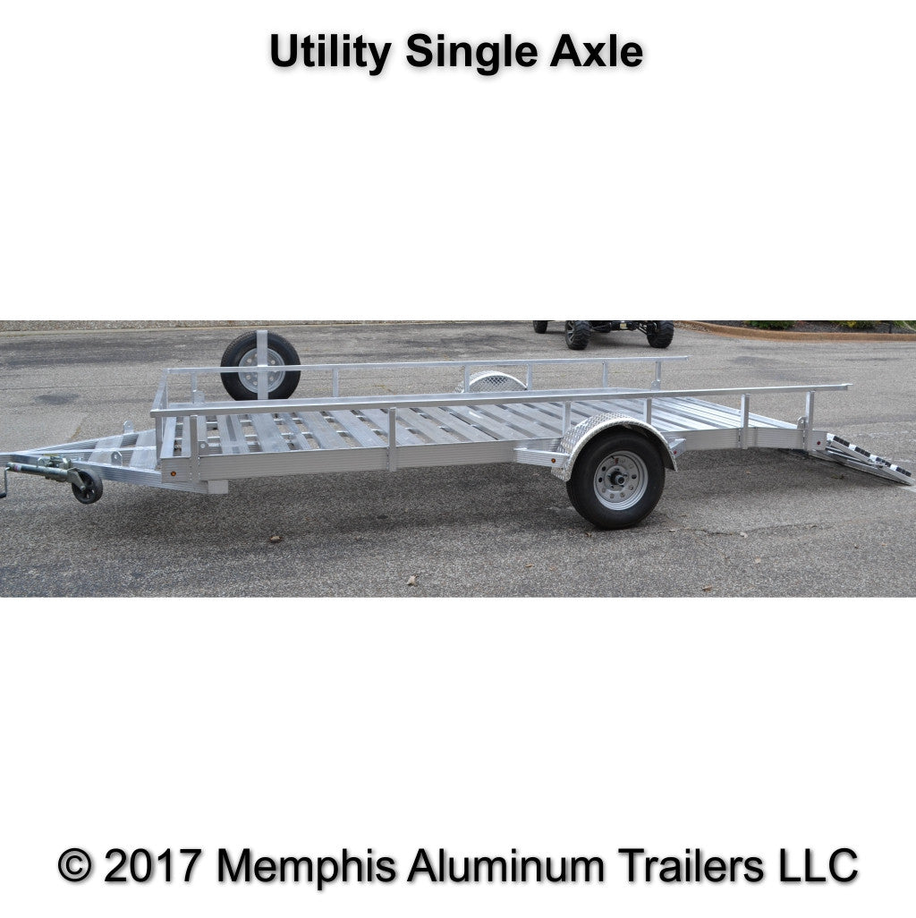 Single axle utility trailer.