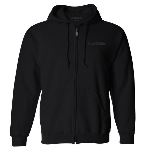 Craft&Ride Blackout Zip-Up Hoodie