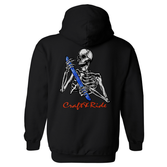 Craft&Ride Skull&Rail Hoodie in Black
