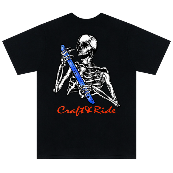 Craft&Ride Skull&Rail T-Shirt in Black