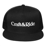 Craft&Ride Embroidered Snapback Hat in Black - Craft&Ride