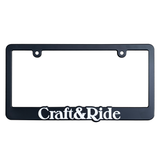 Craft&Ride License Plate Frame