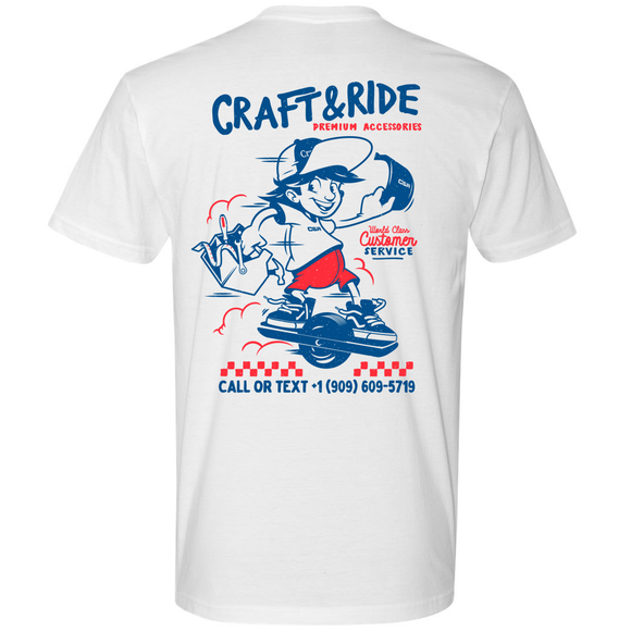 Craft&Ride World Class Service T-Shirt in White