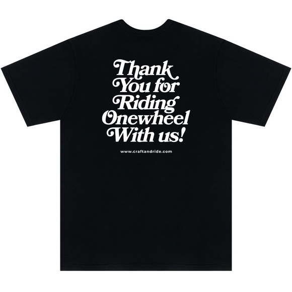 Craft&Ride Thank You For Riding T-Shirt in Black - Craft&Ride