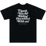 Craft&Ride Thank You For Riding T-Shirt in Black