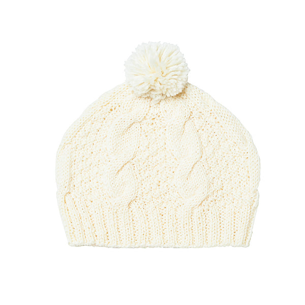 CABLE KNIT BEANIE CREAM