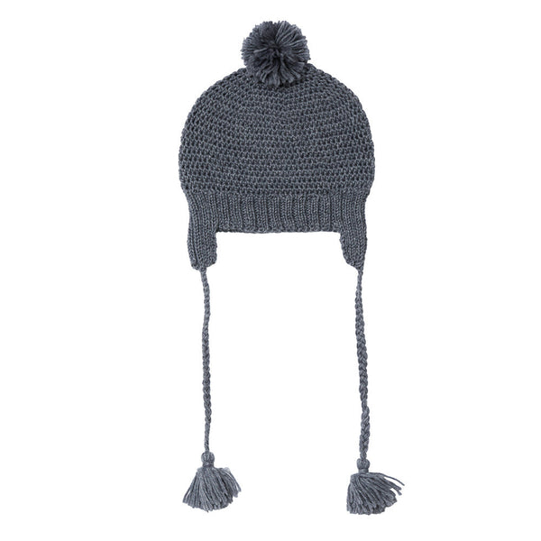 LONDON BEANIE MID GREY