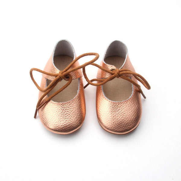 Lerato Mary Jane Lace Ups – Rose Gold