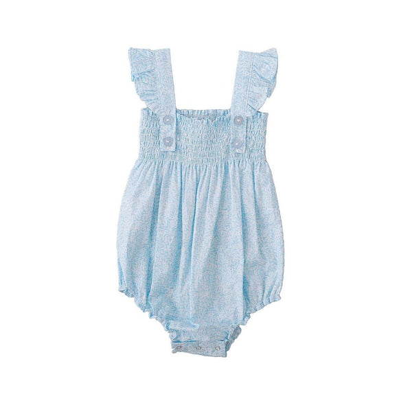 S17 Peggy Edie Playsuit Blue Vine