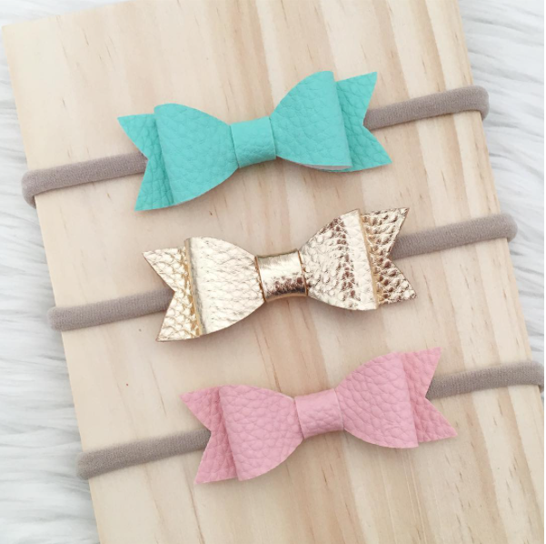 """SIENNA"" BOW HEADBAND - GOLD"