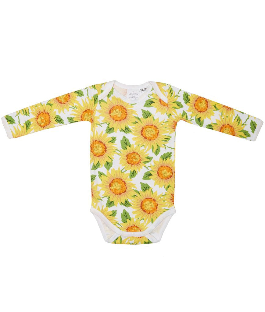 SUNFLOWER LONG SLEEVE BABY SUIT