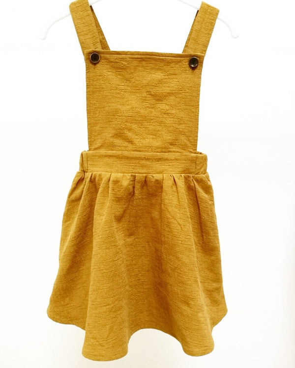 STELLA PINAFORE DRESS - RUSTY