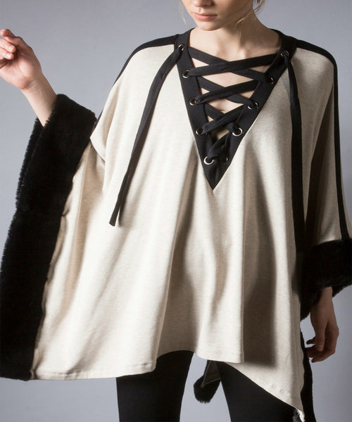 Lace-Up Poncho