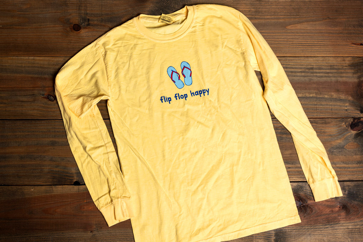 Long Sleeve Flip Flop Happy Tee