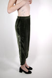 Forest Green Velvet Arc Pant