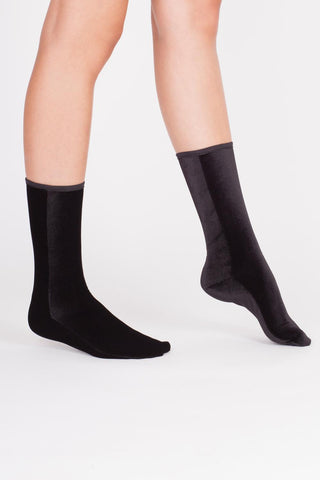 Velvet Socks - BLACK