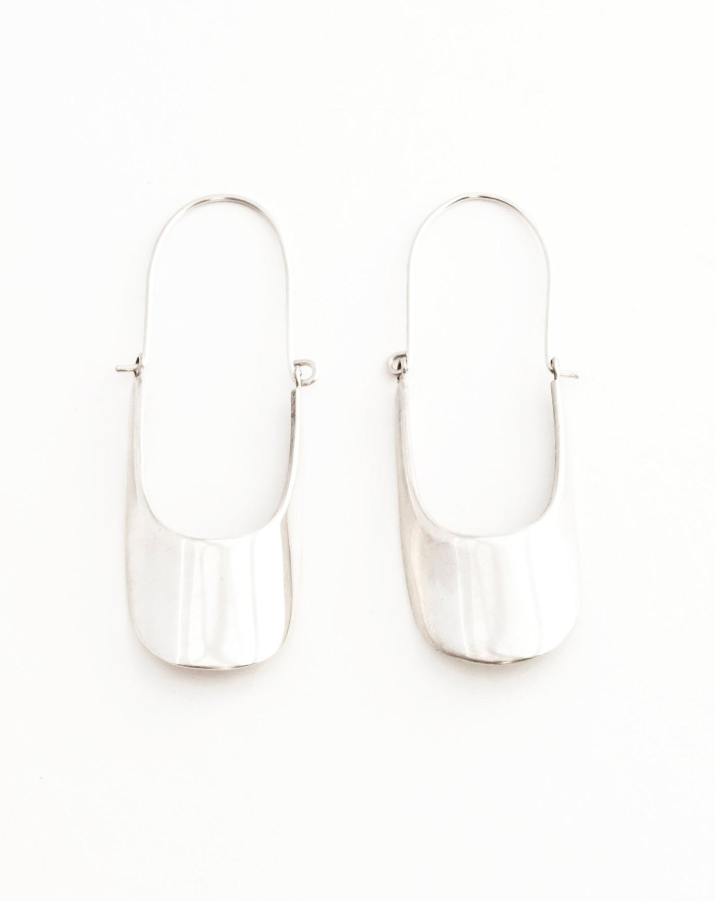 Scoop Earrings - Silver