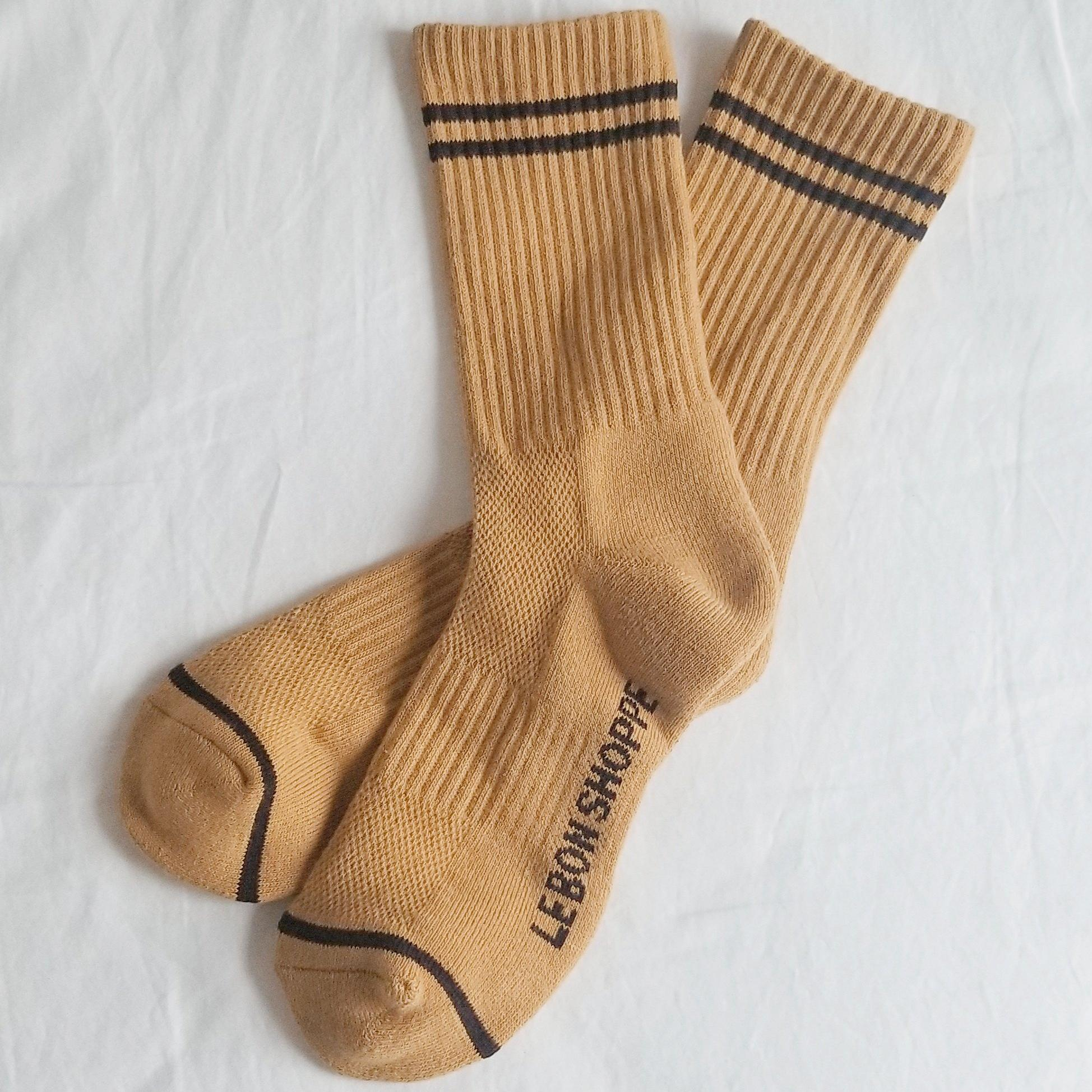 Le Bon Shoppe Boyfriend Socks in Biscotti. Available at EASE Toronto.