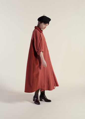 Shirt Dress - Cinnamon