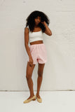 Capri Short - Pink Gingham