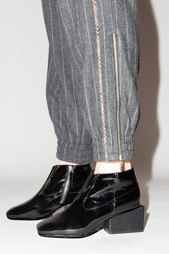Gina Ankle Boot - Black Patent