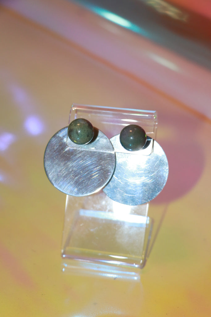 Consonance l Earring Set - Green Jasper