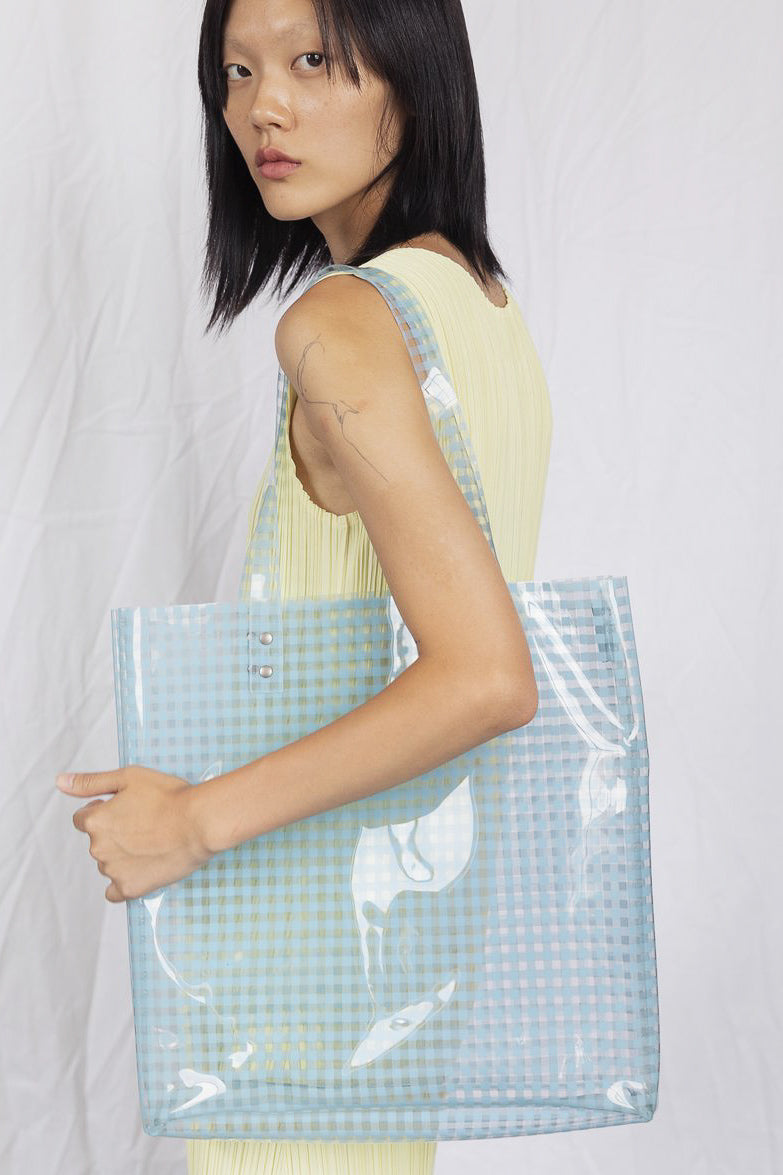 Lucid Tote - Blue Gingham