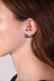 Cap Earring- Right Orientation- Silver