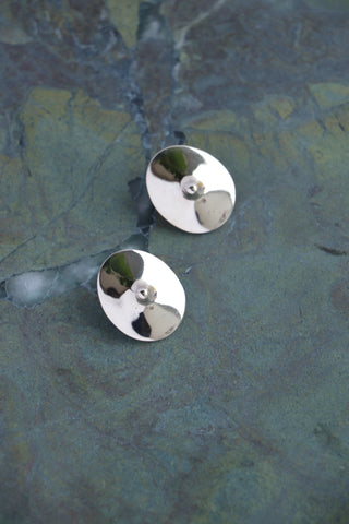 Votive Earrings - White Bronze