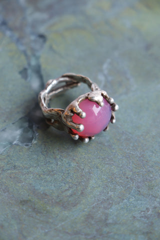 Magician Ring - Pink and Silver