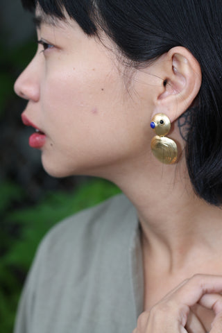 Turtle Earrings - Brass