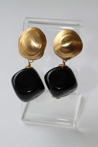 Glass Licorice Drops - Brass and Murano Glass