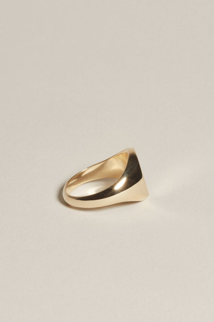 Oval Pinky Signet - 14K Yellow Gold